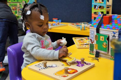 Tot spot is full of fun things for the youngest to explore.